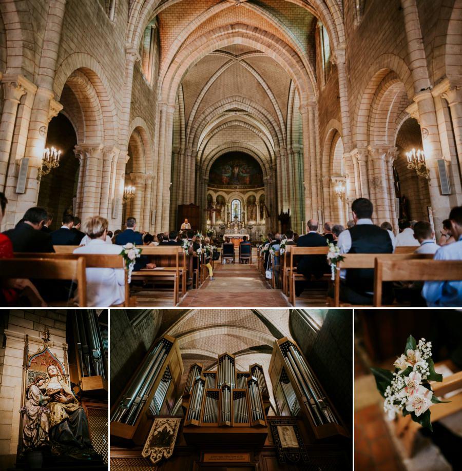 cérémonie religieuse à la basilique de Longpont-sur-Orge -photographe mariage Essonne