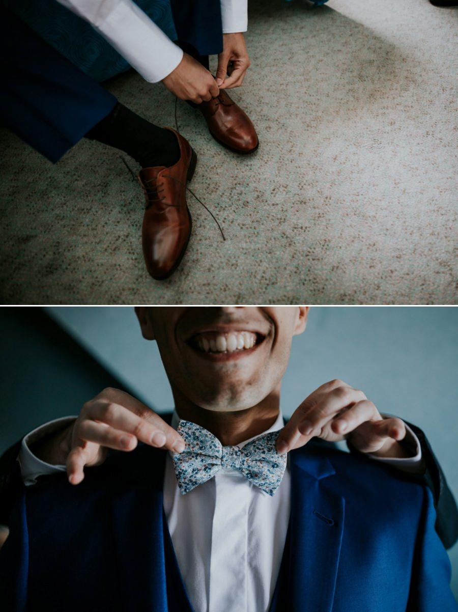 Préparatifs du marié - photographe mariage Essonne