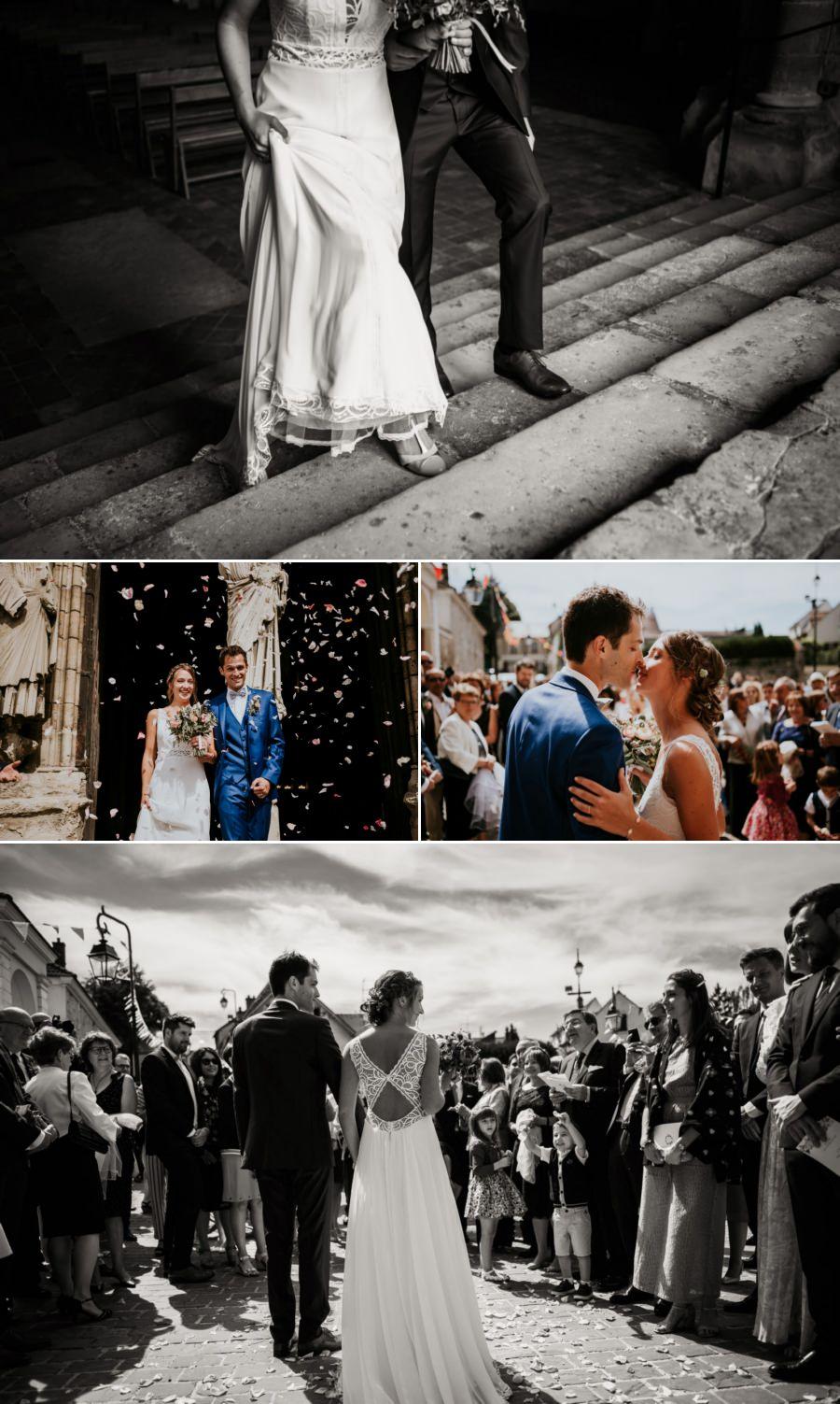 cérémonie religieuse à la basilique de Longpont-sur-Orge - photographe mariage Essonne