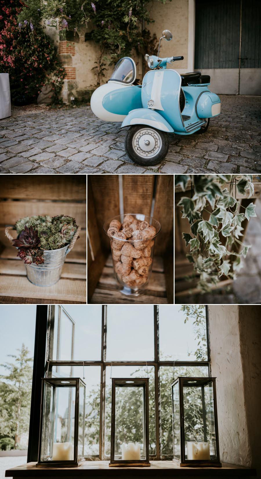 Décoration végétale domaine de Quincampoix - photos de mariage