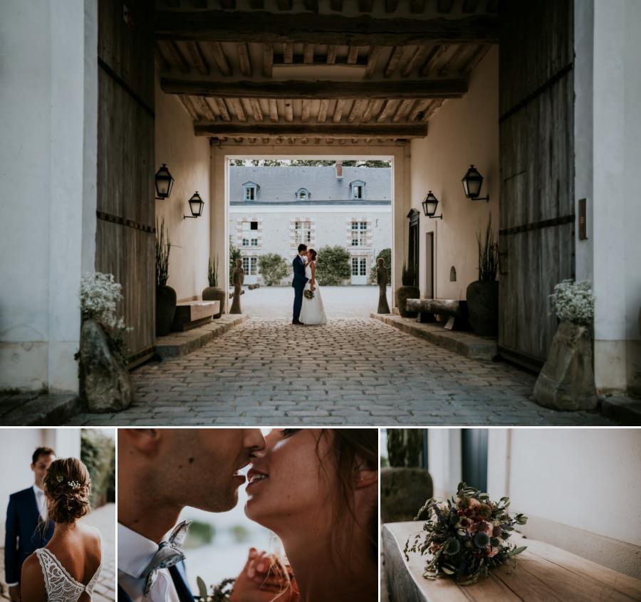 Séance photos de couple mariage au domaine de Quincampoix - photographe mariage Essonne