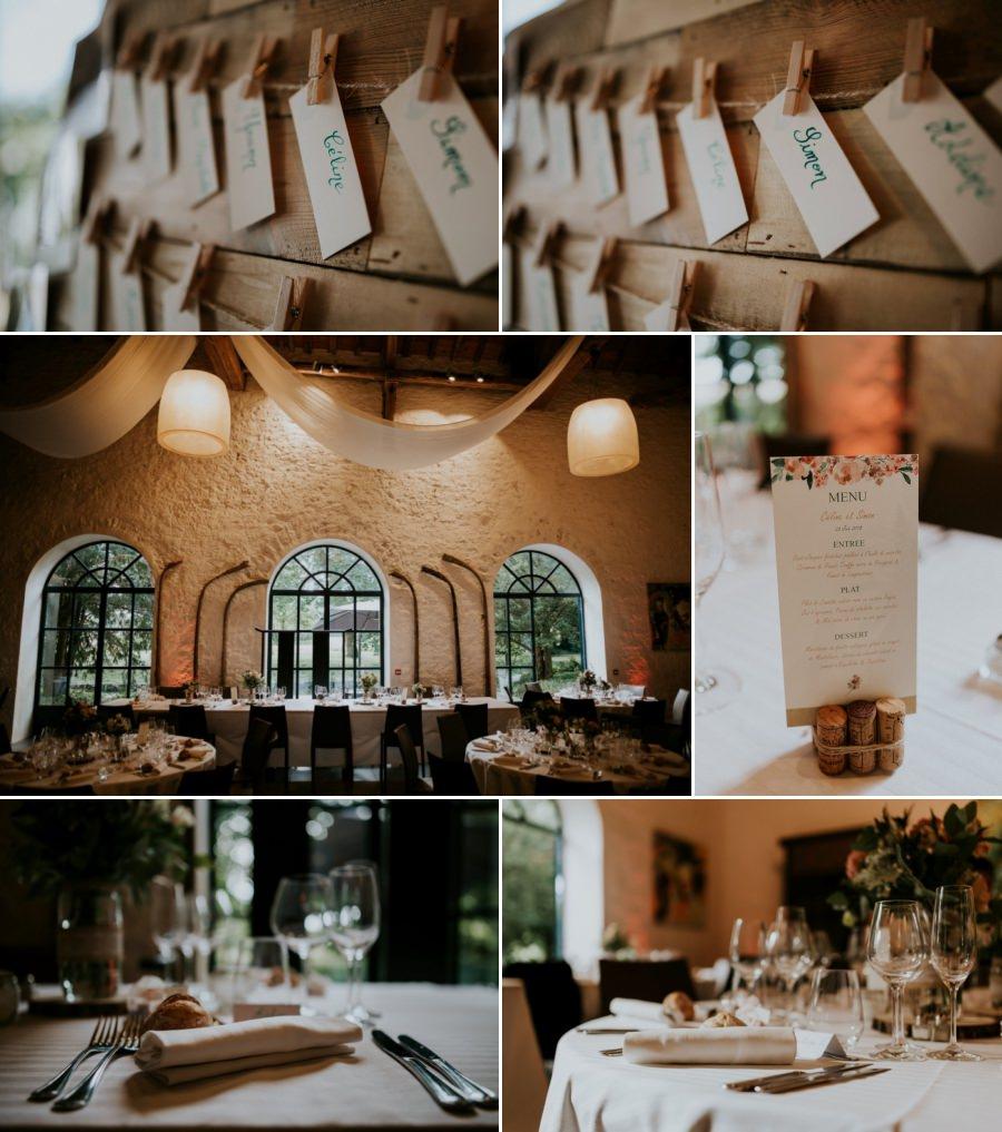 décoration de mariage au domaine de Quincampoix - photographe mariage Essonne