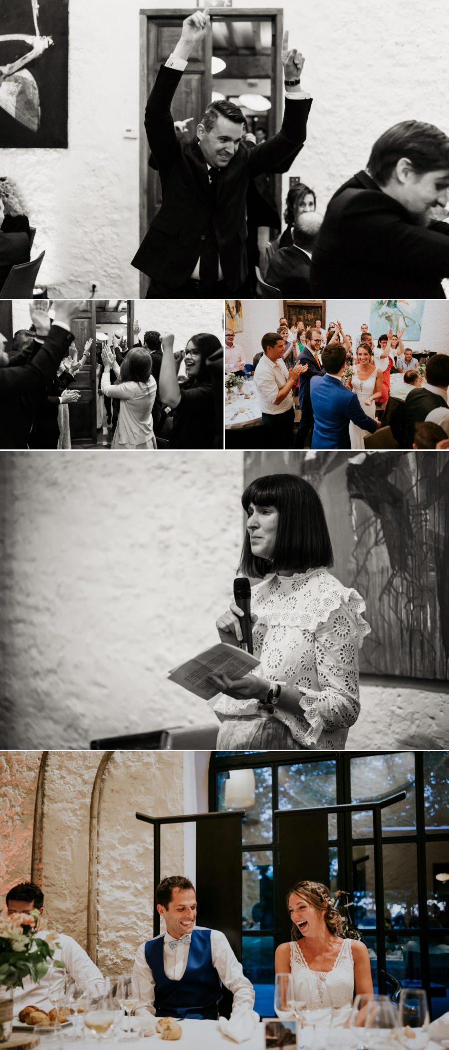 Entrée des mariés dans la grande salle du domaine de Quincampoix - photographe mariage Essonne