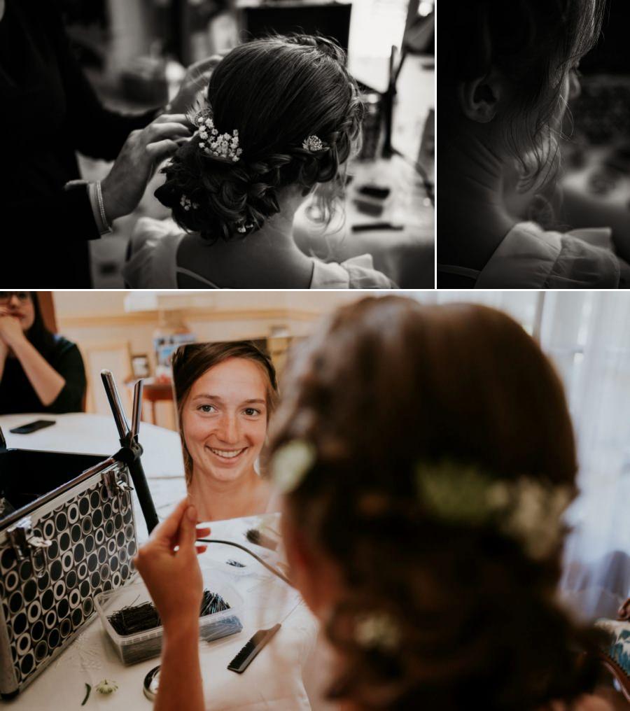 Coiffure de la mariée - photographe mariage Essonne