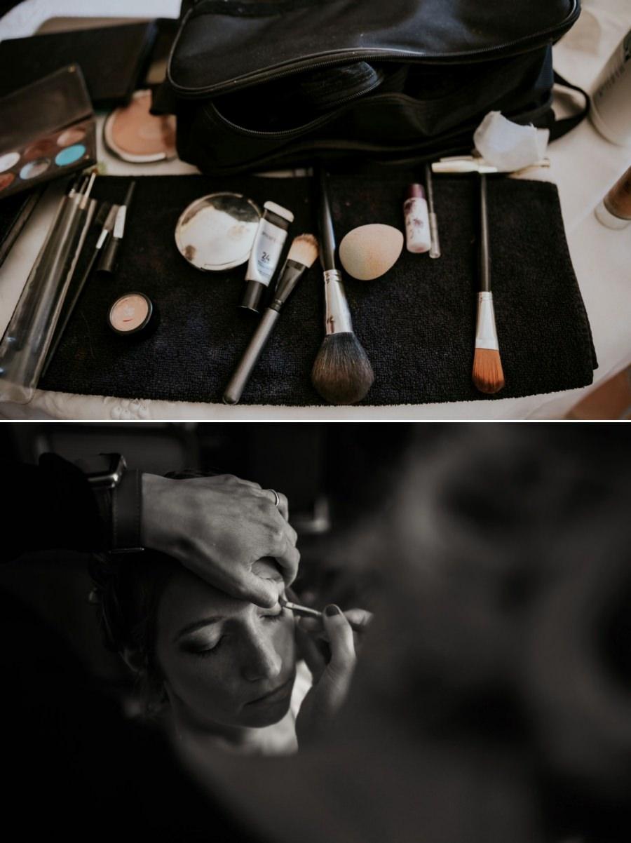 Maquillage de la mariée - photographe de mariage Essonne