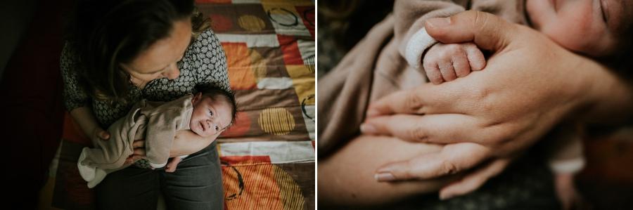 Souvenirs des premiers jours de bébé à la maison