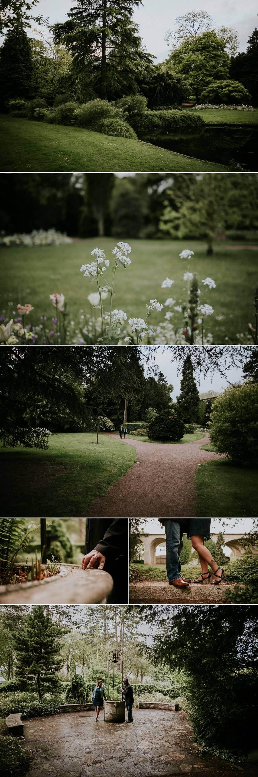 séance photo engagement couple arboretum de Chartres