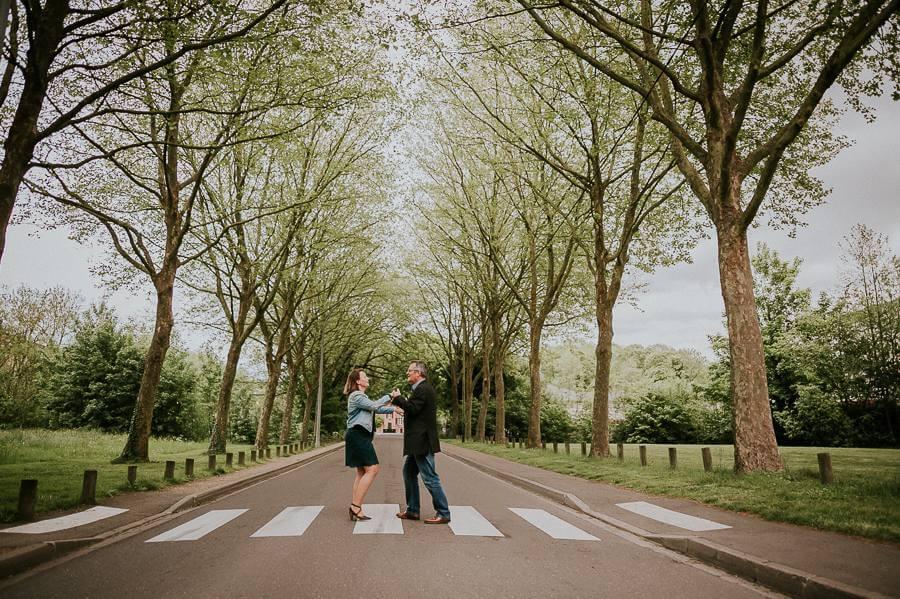 [Chartres] La séance engagement de Sylviane et Daniel à l'arboretum de Chartres.