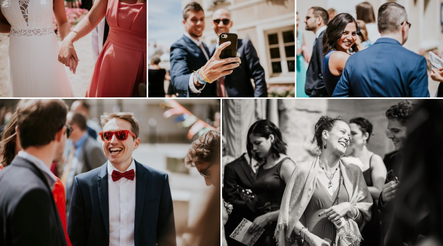 photos des invités - reportage photos de mariage Essonne