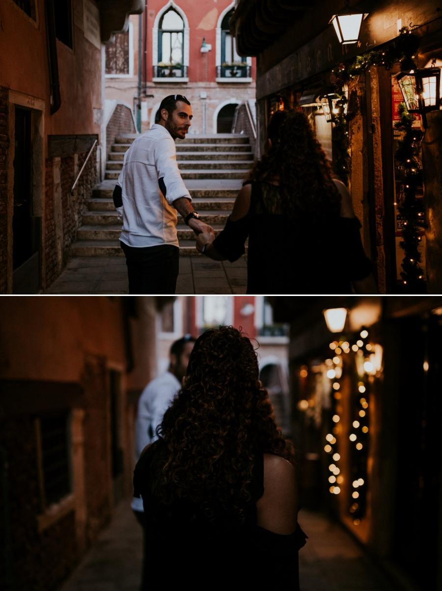 photo de couple dans les rues de Venise | photographe mariage Chartres