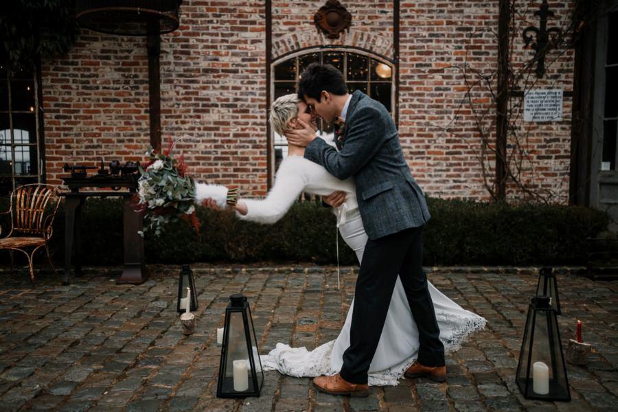 Un mariage en hiver aux bonnes joies