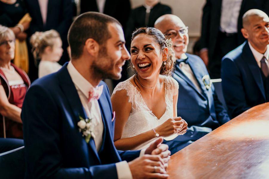 Cérémonie civile des mariés