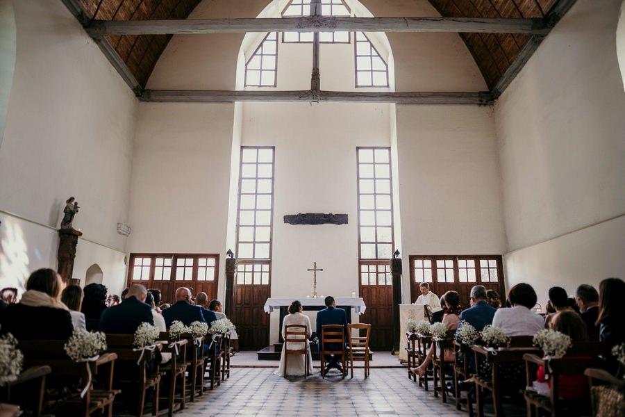 Cérémonie religieuse mariage manoir de Vacheresses