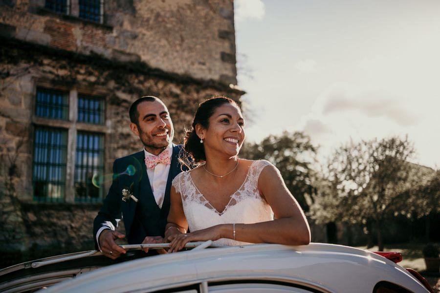 Arrivée mariés au manoir de Vacheresses