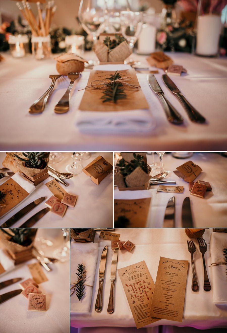 Décoration de la salle d'un mariage au manoir de Vacheresses